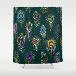 Peacock Feathers Art Shower Curtain