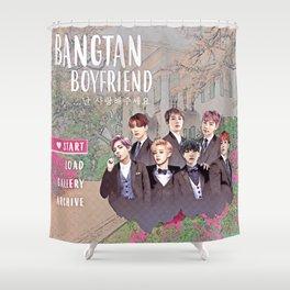 Bangtan Boyfriend Dating Sim Shower Curtain