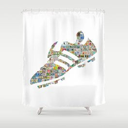 Philately Copa Mundial Soccer Cleats Shower Curtain
