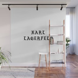 Karl Lagerfeld Calligraphy Wall Mural