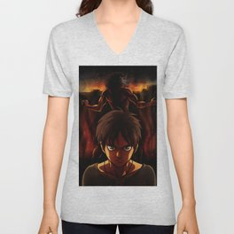 Eren Jaeger Artwork Unisex V-Neck