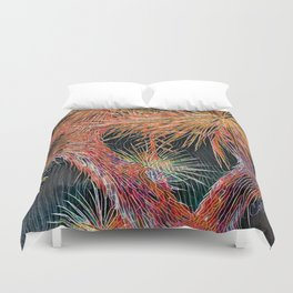 Joshua Tree Mosaic by CREYES Duvet Cover