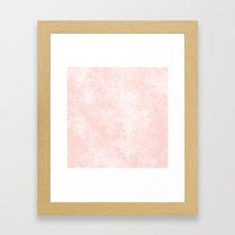 Pink Coral Marble Framed Art Print