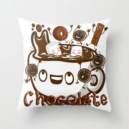 Hot Chocolate! Throw Pillow