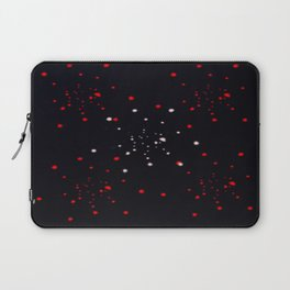 points rouges blancs  Laptop Sleeve