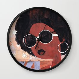 Afro 74 Wall Clock