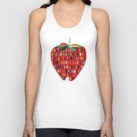 strawberry Tank Tops featuring Strawberry by Picomodi