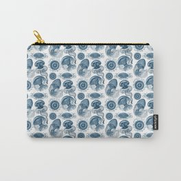 Ernst Haeckel Jellyfish Leptomedusae Prussian Blue Carry-All Pouch