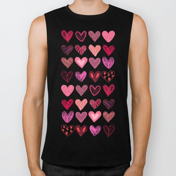 Many Hearts Biker Tank