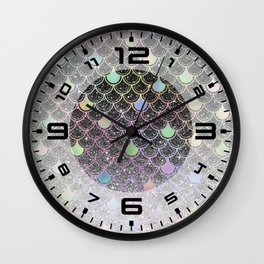 Mermaid scales ombre glitter #2 Wall Clock
