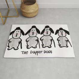 The Dapper Dogs Rug
