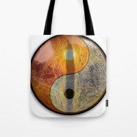 yin yang Tote Bags featuring yin yang by Vector Art