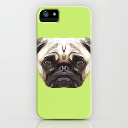 Pug // Green iPhone Case