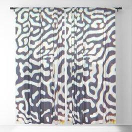 Puffer pattern Sheer Curtain