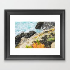 The sea and the color Framed Art Print