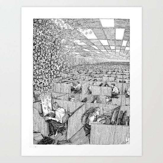 Escaping Monotony Art Print