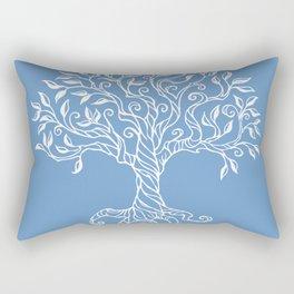 Tree of Life Blue Rectangular Pillow