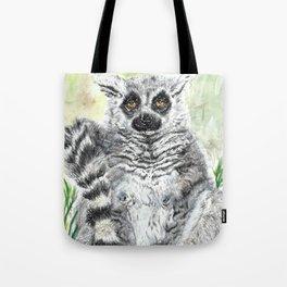 Ring-Tailed Lemur - cute animal, nature, lemur, eyeroll, zero given, not impressed, animals Tote Bag