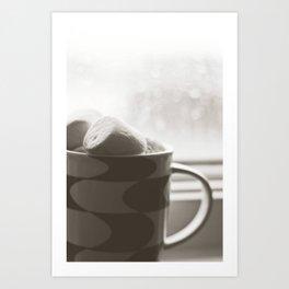 sunday hot chocolate.  Art Print
