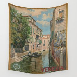 Vintage poster - Venice Wall Tapestry