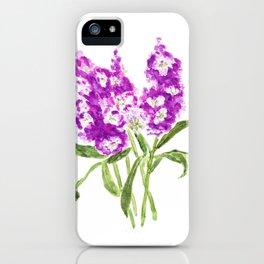 purple larkspur iPhone Case