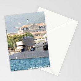 USS JAMES K. POLK (SSBN-645) Stationery Cards
