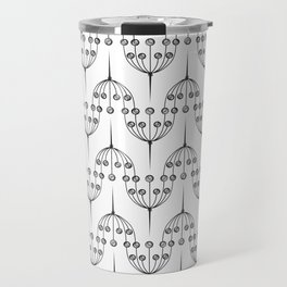 Abstract geometric pattern with floral elements Travel Mug