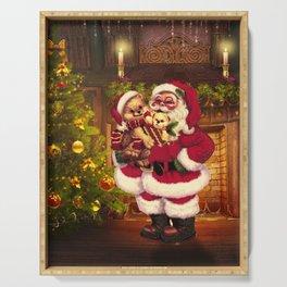 Santa Claus 3 Serving Tray