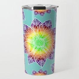 Boho Mandala Flowers Travel Mug