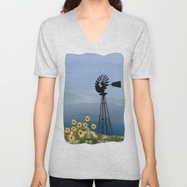 Wind Pump American Style Windmill Unisex V-Neck