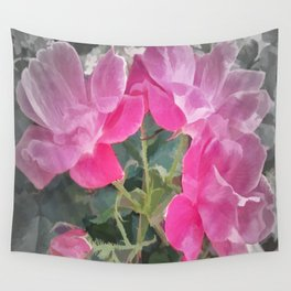 Iced Blossoms Wall Tapestry