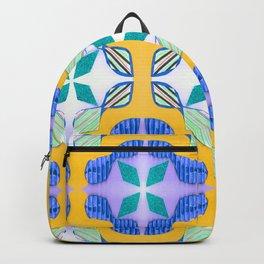 Bow Tie Tile in purple Backpack