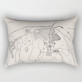 Vintage Map of Arlington National Cemetery (1901) Rectangular Pillow