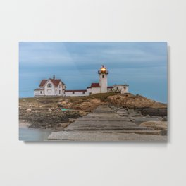 Long exposure of Eastern Point Lighthouse Metal Print