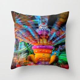 Cray Cray crazy fun at the carnival Throw Pillow