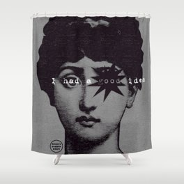 I had a good idea...gray Shower Curtain
