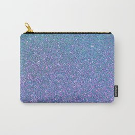 BLUE GLITTER Carry-All Pouch