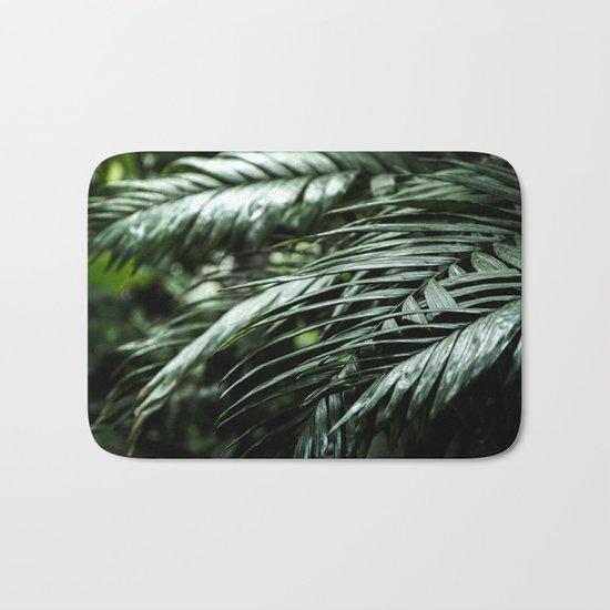 Tropical leaves 03 Bath Mat