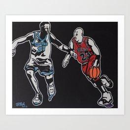 MJ vs. KG Art Print
