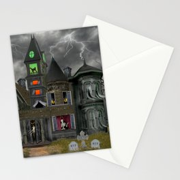 Halloween Haunted Mansion Stationery Cards