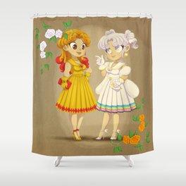 Retro Sailor Galaxia & Cosmos Shower Curtain