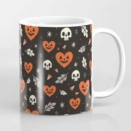 I Heart Halloween Pattern (Black) Coffee Mug
