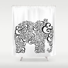 Ampersand Elephant Shower Curtain