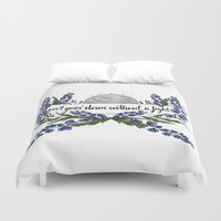 wolves Duvet Covers featuring wolves by girlwiththetea