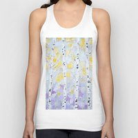birch Tank Tops featuring October Birch by Ann Marie Coolick