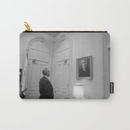 LBJ Looking At FDR Carry-All Pouch