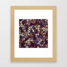 Fractal Gems 01 - Fall Vibrant Framed Art Print
