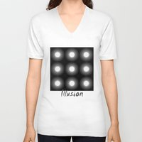 illusion V-neck T-shirts featuring Illusion by DagmarMarina