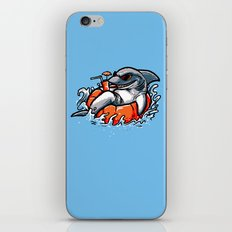 summer pool shark iPhone & iPod Skin