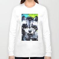 raccoon Long Sleeve T-shirts featuring RACCOON by Maioriz Home